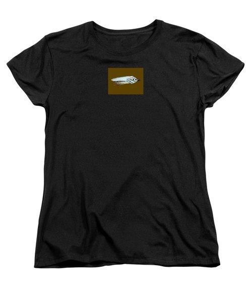 Women's T-Shirt (Standard Cut) featuring the painting Gray Ghost by Jean Pacheco Ravinski