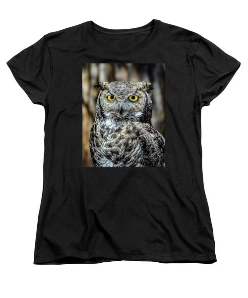 Women's T-Shirt (Standard Cut) featuring the photograph Whooo Me ? by Phil Abrams
