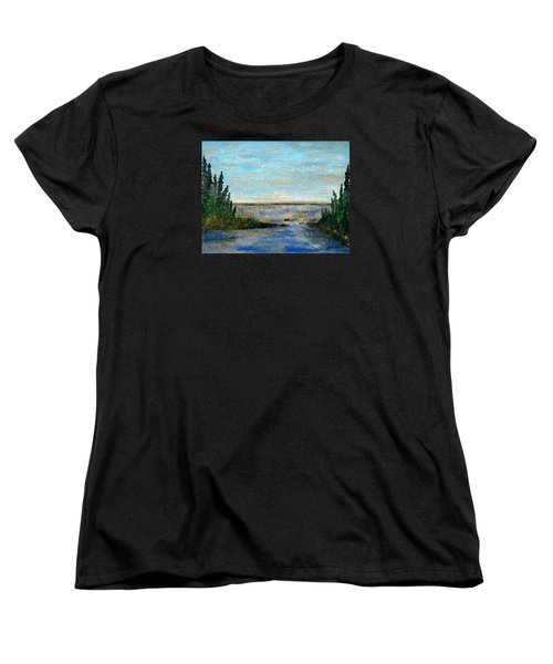 Great Lake Beyond Women's T-Shirt (Standard Cut) by R Kyllo
