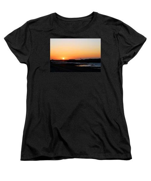 Greater Prudhoe Bay Sunrise Women's T-Shirt (Standard Cut) by Anthony Jones