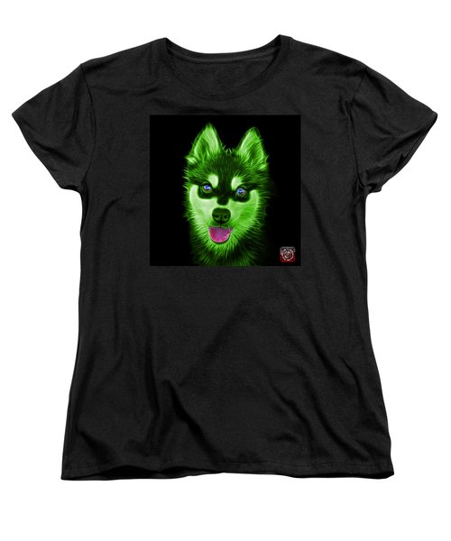 Green Alaskan Klee Kai - 6029 -bb Women's T-Shirt (Standard Cut) by James Ahn