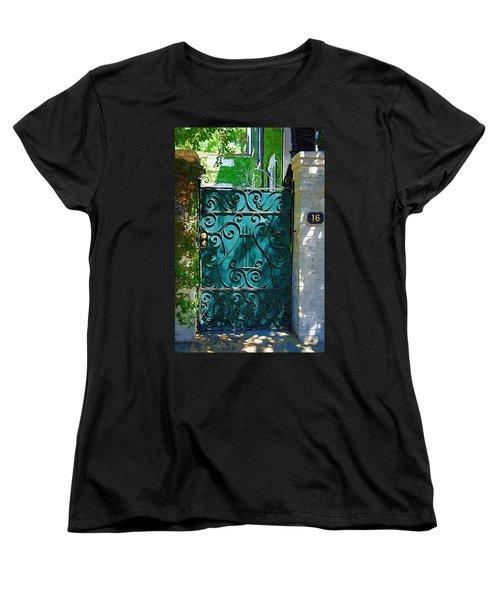Green Gate Women's T-Shirt (Standard Cut) by Donna Bentley