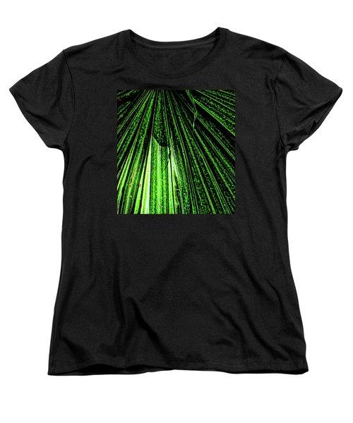 Green Leaf Forest Photo Women's T-Shirt (Standard Cut) by Gina O'Brien