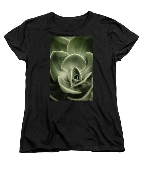 Women's T-Shirt (Standard Cut) featuring the photograph Green Leaves Abstract IIi by Marco Oliveira