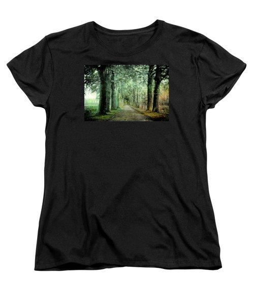 Green Magic Women's T-Shirt (Standard Cut) by Annie Snel