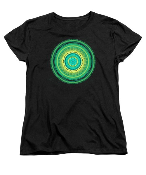 Green Mandala Women's T-Shirt (Standard Cut) by Martin Capek