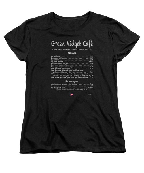 Green Midget Cafe Menu T-shirt Women's T-Shirt (Standard Cut) by Robert J Sadler