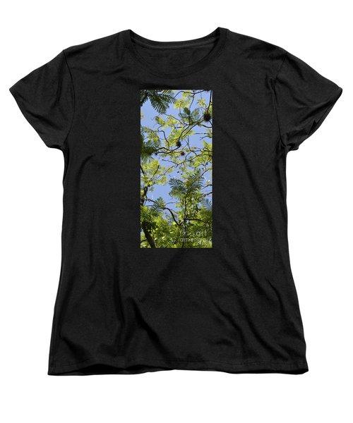 Greenery Left Panel Women's T-Shirt (Standard Cut) by Renie Rutten