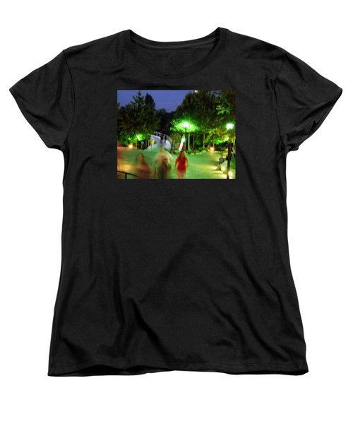 Greenville At Night Women's T-Shirt (Standard Cut) by Flavia Westerwelle