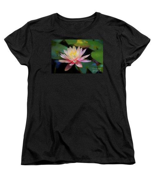 Grutas Water Lilly Women's T-Shirt (Standard Cut) by John Kolenberg