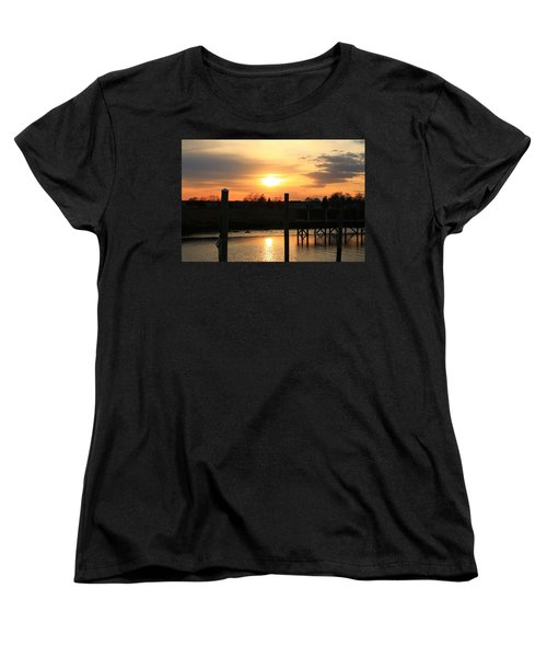 Guilford Low Tide Women's T-Shirt (Standard Cut) by Catie Canetti