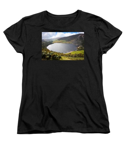 Guinness Lake In Wicklow Mountains  Ireland Women's T-Shirt (Standard Cut) by Semmick Photo