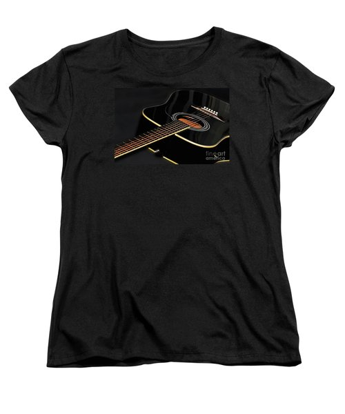 Women's T-Shirt (Standard Cut) featuring the photograph Guitar Low Key By Kaye Menner by Kaye Menner