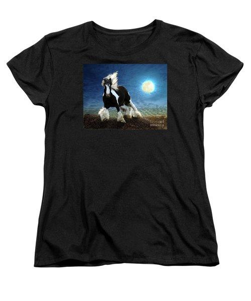 Gypsy Moon Women's T-Shirt (Standard Cut) by Melinda Hughes-Berland