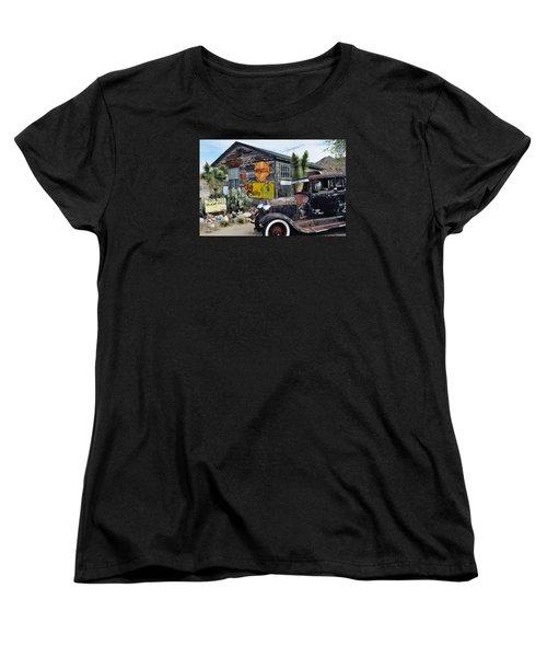 Hackberry Route 66 Auto Women's T-Shirt (Standard Cut) by Kyle Hanson
