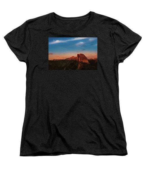 Half Dome  Women's T-Shirt (Standard Cut) by Ralph Vazquez