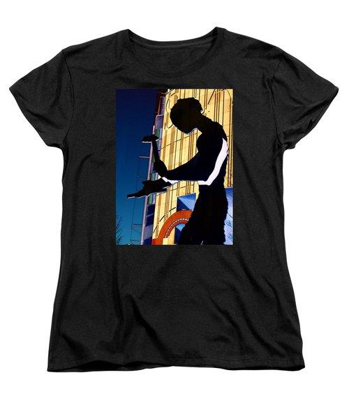 Hammering Man Women's T-Shirt (Standard Cut) by Tim Allen