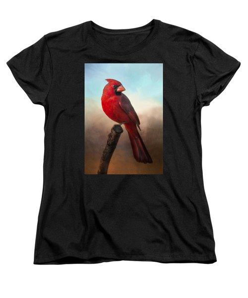 Handsome Cardinal Women's T-Shirt (Standard Cut)