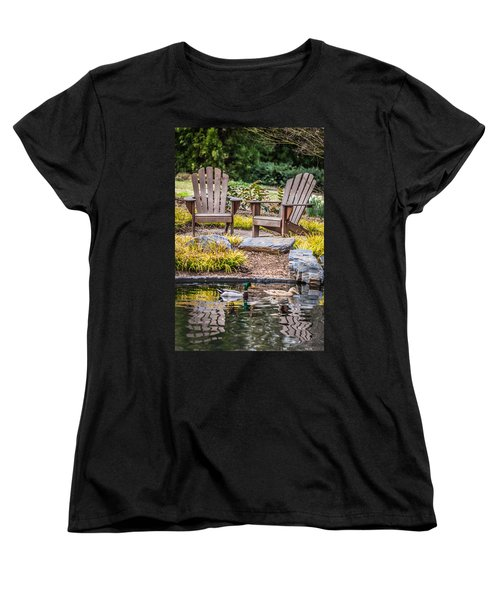 Women's T-Shirt (Standard Cut) featuring the photograph Happiness Goes On by Wade Brooks