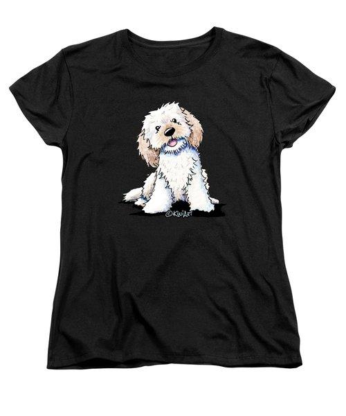 Happy Doodle Puppy Women's T-Shirt (Standard Cut)