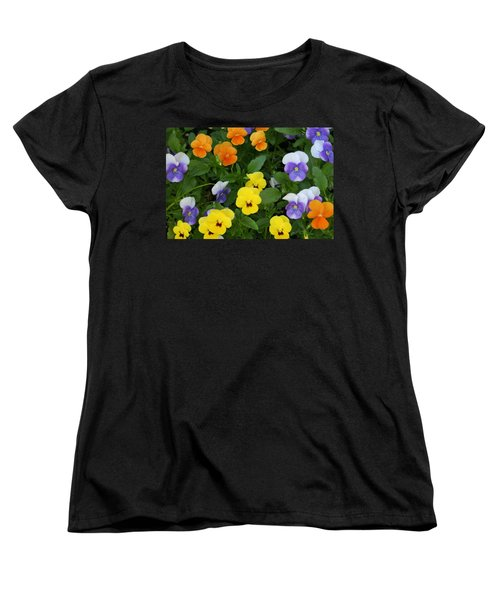 Women's T-Shirt (Standard Cut) featuring the digital art Happy Faces by Barbara S Nickerson