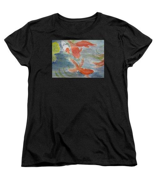 Happy Koi Women's T-Shirt (Standard Cut) by Elvira Ingram