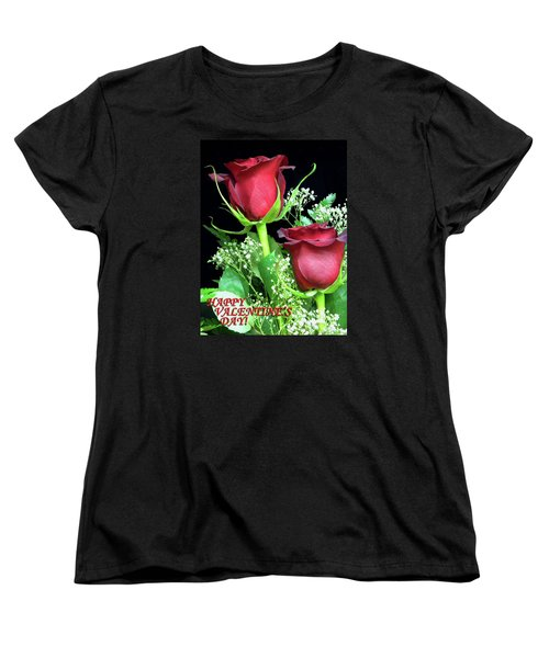 Women's T-Shirt (Standard Cut) featuring the photograph Happy Valentines Day by Sandi OReilly