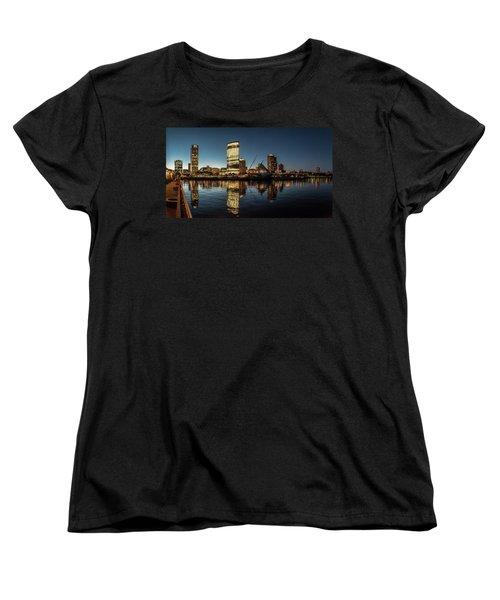 Women's T-Shirt (Standard Cut) featuring the photograph Harbor House View by Randy Scherkenbach
