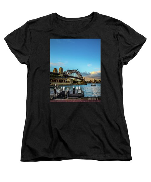 Women's T-Shirt (Standard Cut) featuring the photograph Harbour Sky by Perry Webster
