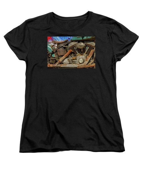 Women's T-Shirt (Standard Cut) featuring the photograph Harley Davidson - An American Icon by Bill Gallagher