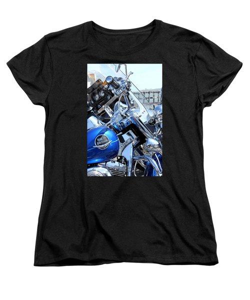 Harley-davidson Women's T-Shirt (Standard Cut) by Valentino Visentini
