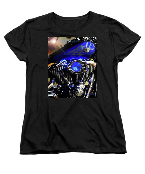 Harleys Twins Women's T-Shirt (Standard Cut) by DigiArt Diaries by Vicky B Fuller