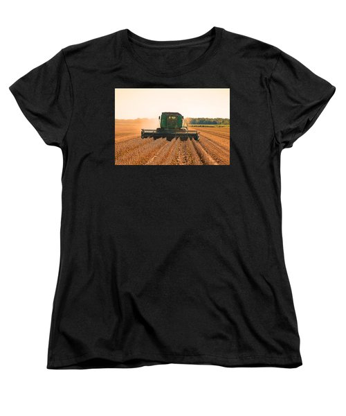 Harvesting Soybeans Women's T-Shirt (Standard Cut) by Ronald Olivier