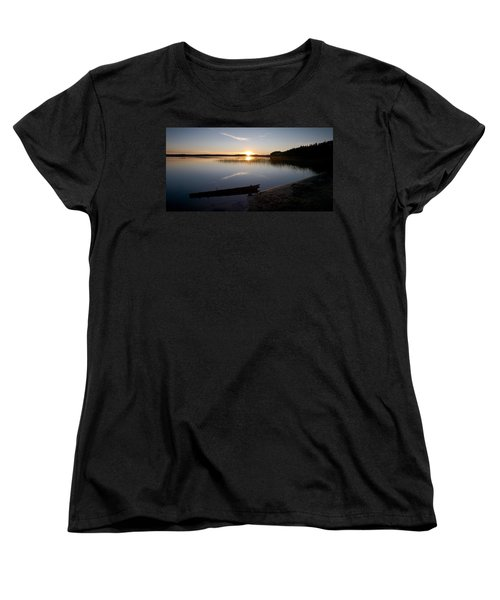 Women's T-Shirt (Standard Cut) featuring the photograph Haukkajarvi Evening by Jouko Lehto