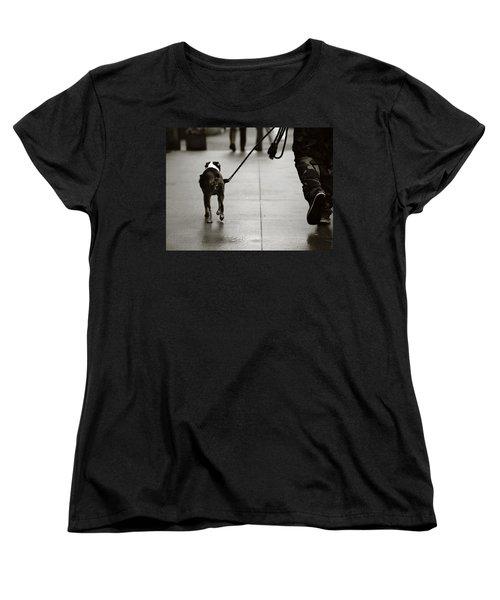 Women's T-Shirt (Standard Cut) featuring the photograph Hauling Ass by Empty Wall