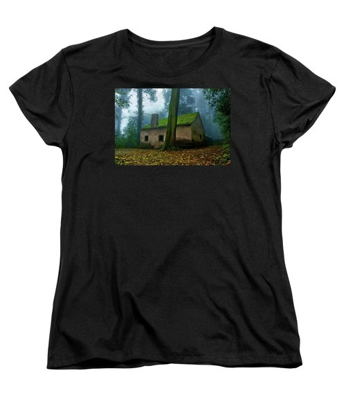 Haunted House Women's T-Shirt (Standard Cut) by Jorge Maia