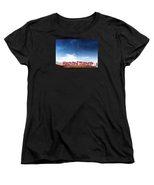 Women's T-Shirt (Standard Cut) featuring the photograph Haunted Manor  by Colleen Kammerer