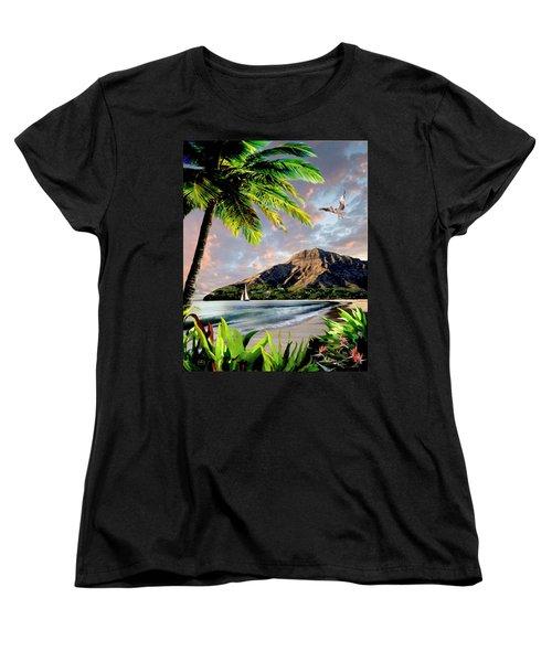 Hawaii Sunset Women's T-Shirt (Standard Cut) by Ron Chambers