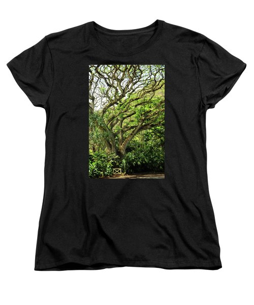Hawaii Tree-bard Women's T-Shirt (Standard Cut) by Denise Moore