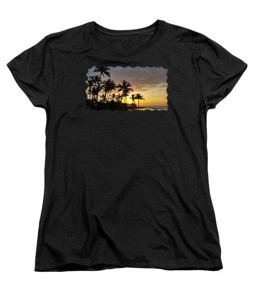 Hawaiian Sunset Design Women's T-Shirt (Standard Cut) by Pamela Walton