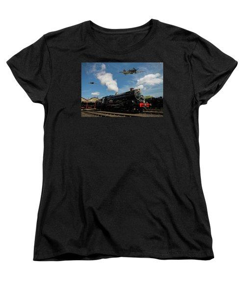 Hawker Hurricanes Beating Up A Goods Yard Women's T-Shirt (Standard Cut) by Ken Brannen