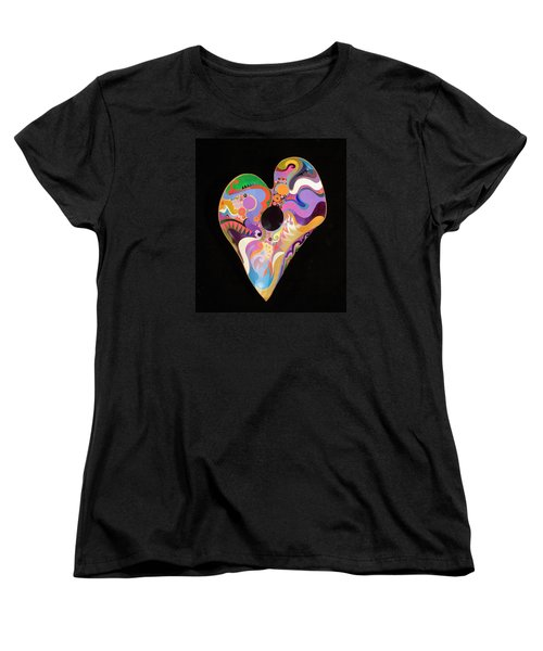Women's T-Shirt (Standard Cut) featuring the painting Heart Bowl by Bob Coonts