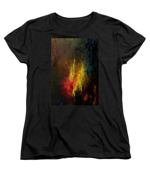 Women's T-Shirt (Standard Cut) featuring the painting Heart Of Art by Rushan Ruzaick