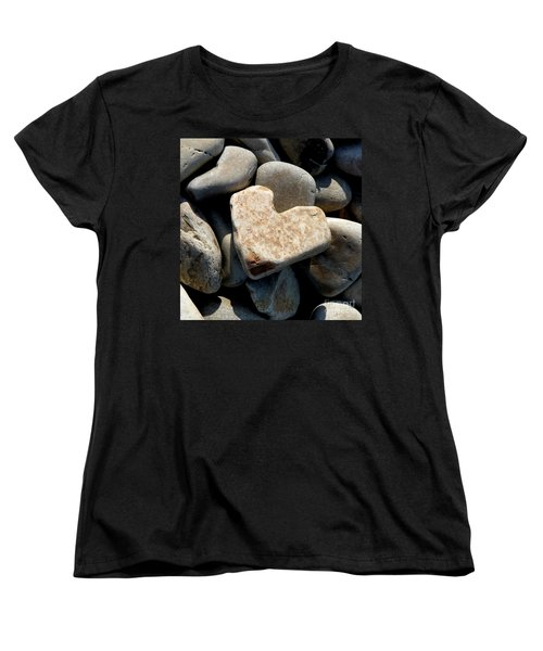 Heart Stone Women's T-Shirt (Standard Cut) by Lainie Wrightson