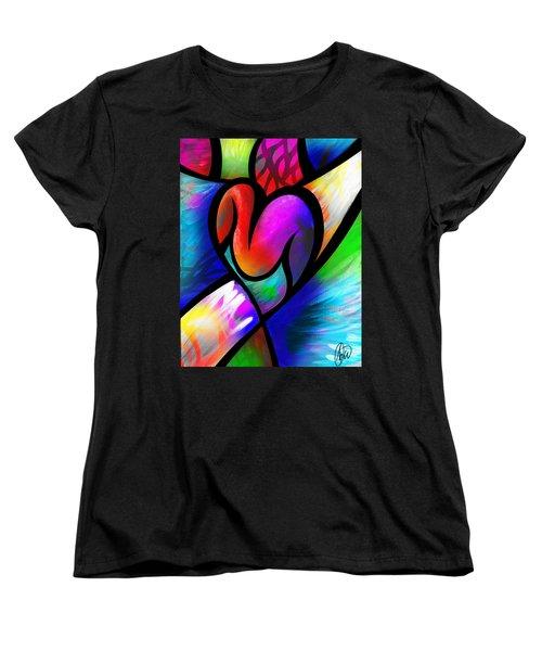 Heart Vectors Women's T-Shirt (Standard Cut) by AC Williams