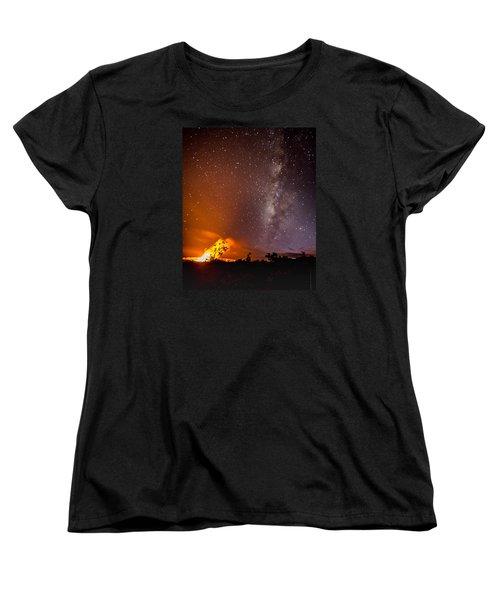 Heaven And Hell Women's T-Shirt (Standard Cut) by Allen Biedrzycki