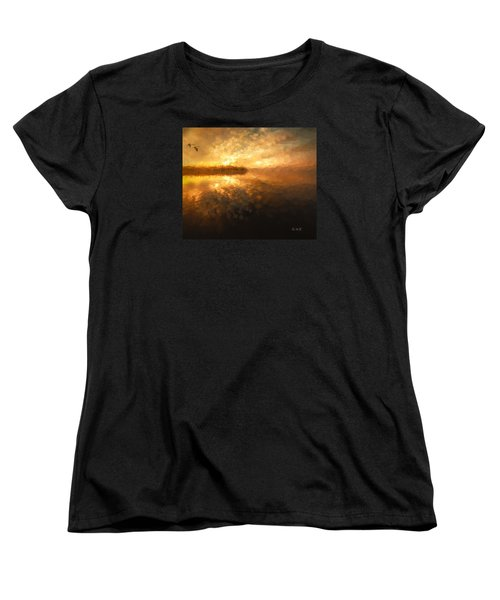 Women's T-Shirt (Standard Cut) featuring the painting Heavenly Journey by Rose-Maries Pictures