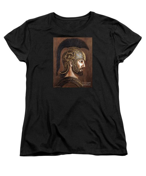 Women's T-Shirt (Standard Cut) featuring the painting Hector by Arturas Slapsys
