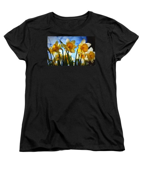 Hello Spring Women's T-Shirt (Standard Cut) by Cricket Hackmann