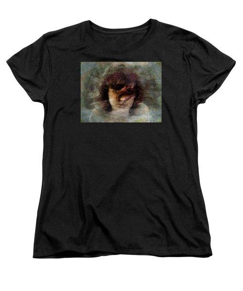 Women's T-Shirt (Standard Cut) featuring the digital art Her Dark Story by Gun Legler
